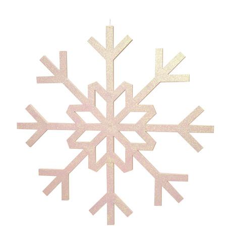 GLITTERED GIANT SNOWFLAKE - IRIDESCENT Iridescent