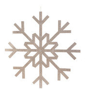 GLITTERED GIANT SNOWFLAKE - SILVER - Silver