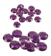 ROUND AMETHYSTS - Purple