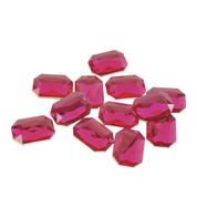 RECTANGULAR PINK TOPAZ - Pink