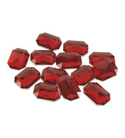 RECTANGULAR RUBIES - Red