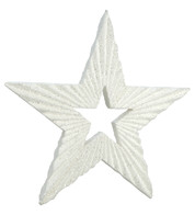 TEXTURED GLITTER STAR - WHITE - White