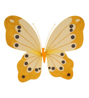 BUTTERFLY GLITTERED - YELLOW - Yellow
