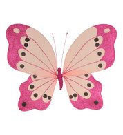 BUTTERFLY GLITTERED - PINK - Pink