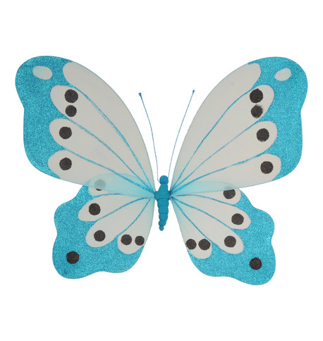 BUTTERFLY GLITTERED - TURQUOISE Turquoise