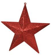 GLITTER STARS - RED - Red