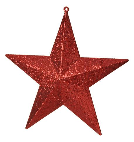 GLITTER STARS - RED Red