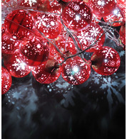SNOWFLAKE BAUBLE LIGHTS - RED - Red