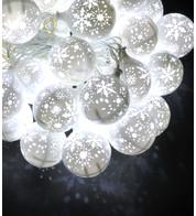 SNOWFLAKE BAUBLE LIGHTS - WHITE - White