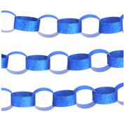 GLITTER PAPER CHAIN BLUE - Blue