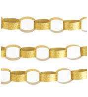 GLITTER PAPER CHAIN GOLD - Gold