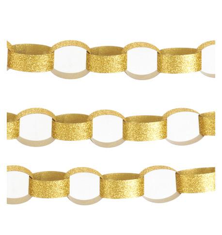 GLITTER PAPER CHAIN GOLD Gold