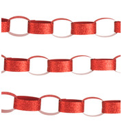 GLITTER PAPER CHAIN RED - Red