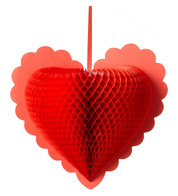 PAPER HEART - RED - Red