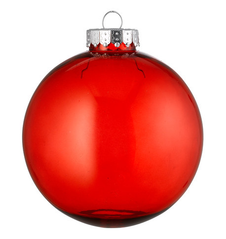 CLEAR  BAUBLES - RED Red