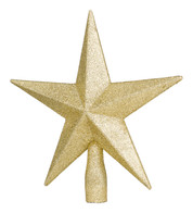 GLITTERED TREE TOPPER - GOLD - Gold