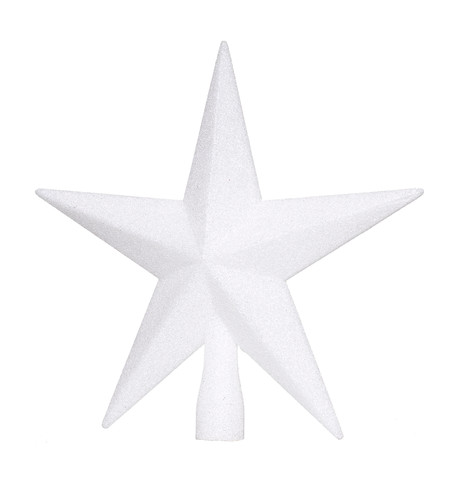 GLITTERED TREE TOPPER - WHITE White