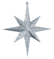 GLITTER STAR 8 POINT - SILVER - Silver