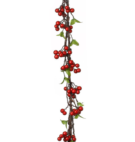 BERRY & LEAF GARLAND - RED Red