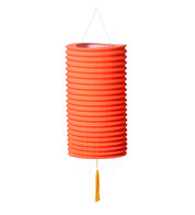 PAPER COLUMN LANTERN - ORANGE - Orange