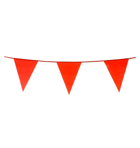 PVC BUNTING - RED Red