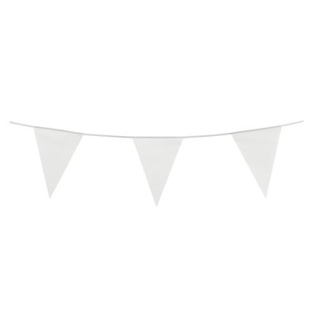 PVC BUNTING - WHITE White