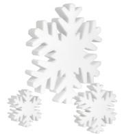 Soft snowflakes - White