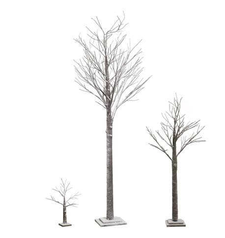 SNOWY TWIG TREE Brown & White